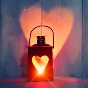Herz, Licht, Kerze, Lampe
