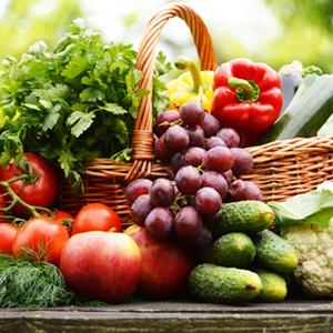 Obst, Gemüse, Kräuter, Vitalstoffe