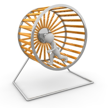 Hamsterrad, sich im Kreis drehen, Lösung