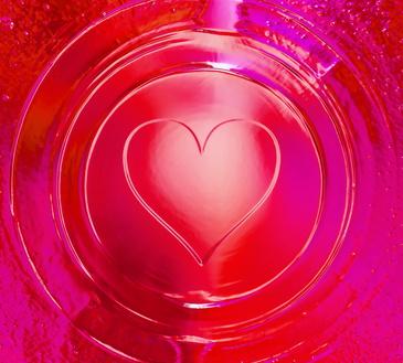 Herz, Liebe, Herzkristall, inneres Feuer