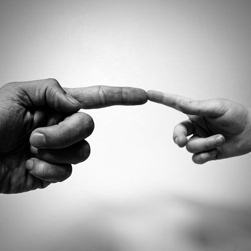 Verbindung, Berührung, michelangelo