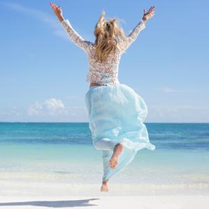 Freude, Meer, Strand, Sonne, Sommer, Happy