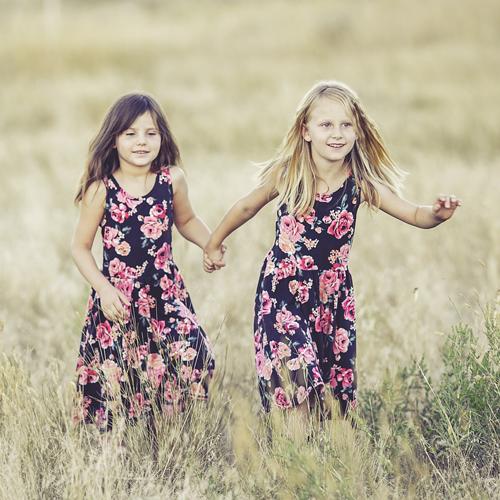 Spiel, Schwestern, Leichtigkeit, Freude