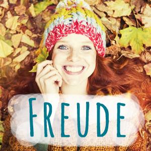 Herbst, Freude, Frau, Lachen
