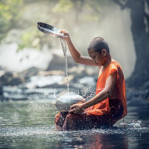 buddha, Kraft, Quelle, Meditation, Wasser, Energie