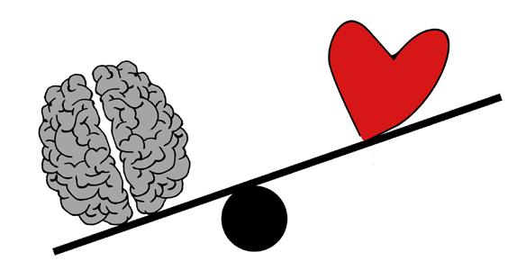 Gedanke, Verstand, Herz, Waage, Gefühl, Balance