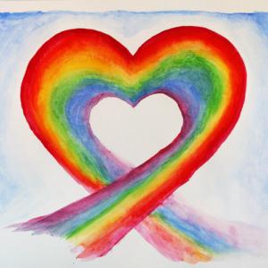 Regenbogen, Herz, Freude, Seelenbusiness, Himmel, Erde