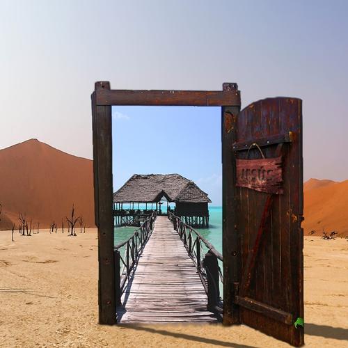 Wüste, Wasser, Oase, Tor, Tor-Öffnung
