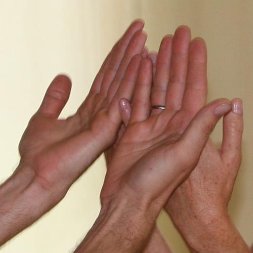 Berührung, Verbindung, Tanzen, Hände, Hand